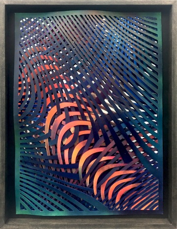 sf3 | paper cut, mirror foil, acrylic | 42 x 29,5 cm | 2018