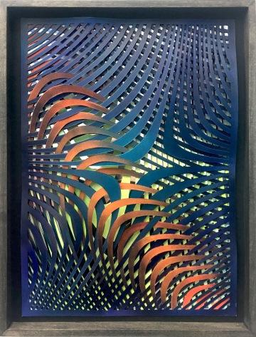 sf4 | paper , mirror foil, acrylic | 42 x 29,5 cm | 2018