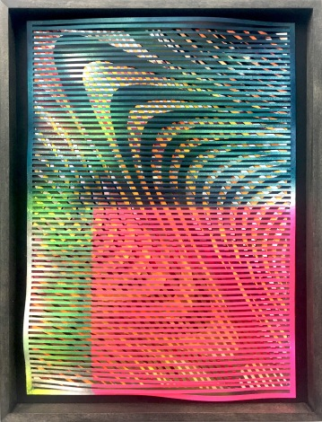 sf5 | paper , mirror foil, acrylic | 42 x 29,5 cm | 2018