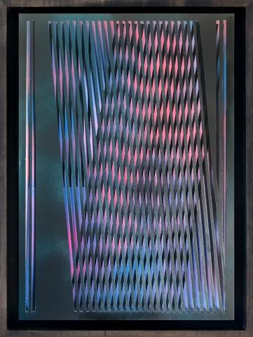 c3 | Scherenschnitt, PVC-Folie, Acryl | 42 x 29,5 cm | 2019